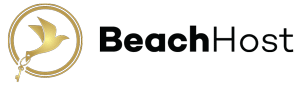 BeachHost Logo Gold Black 300x86